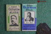 Лезвия для бритья Old Man, Gillette (2 шт) Сделано в Англии